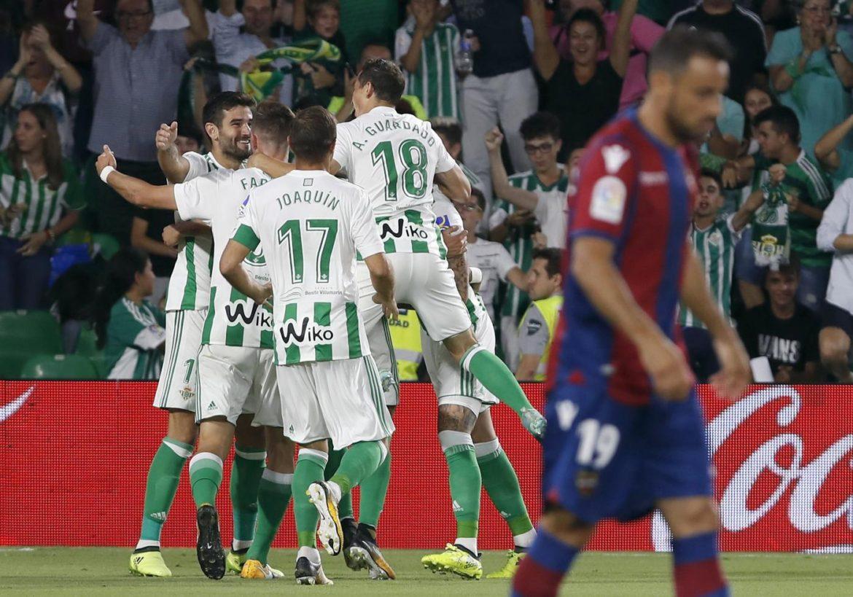 Betis-Levante formazioni ufficiali