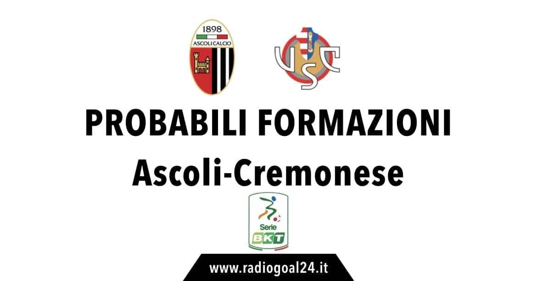 Ascoli-Cremonese probabili formazioni