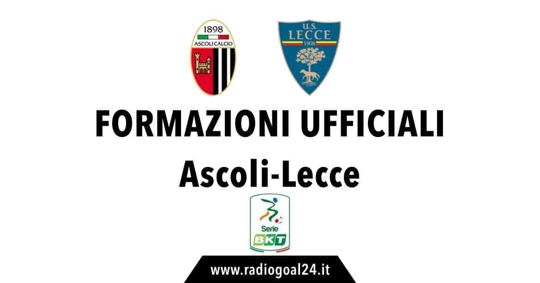 Ascoli-Lecce formazioni ufficiali
