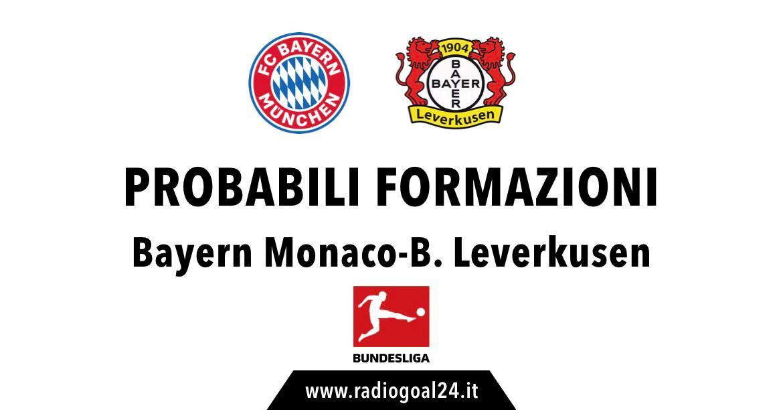 Bayern Monaco-Bayer Leverkusen probabili formazioni