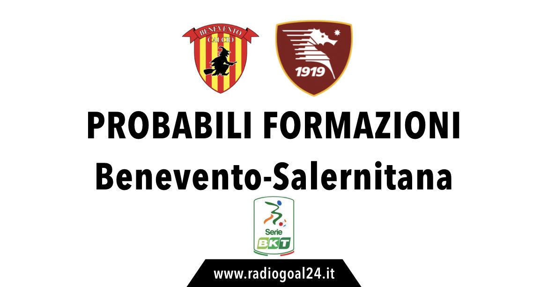 Benevento-Salernitana probabili formazioni
