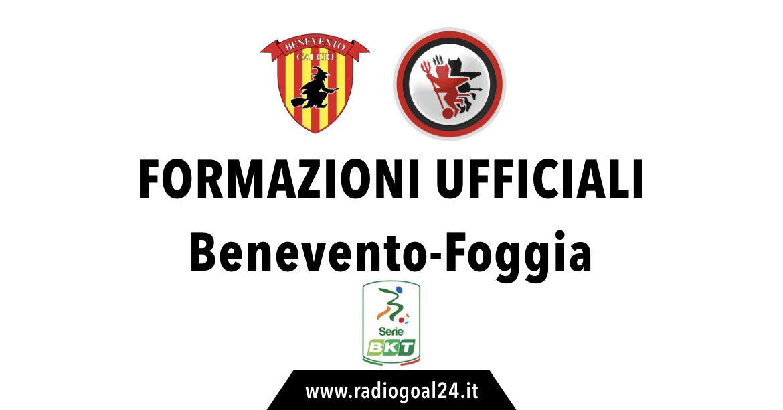 Benevento-Foggia formazioni ufficiali