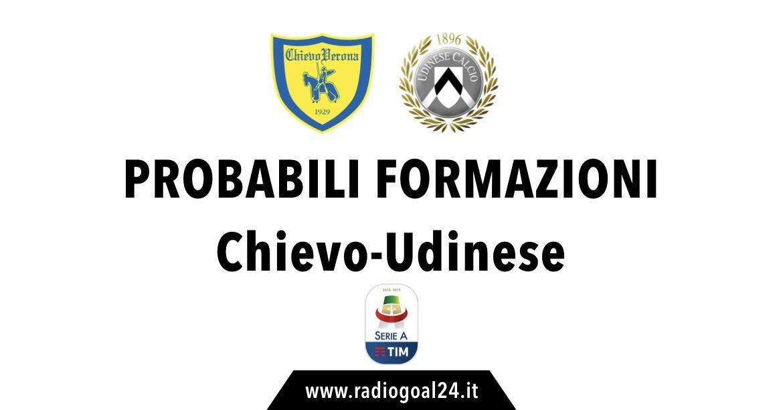 Chievo-Udinese probabili formazioni