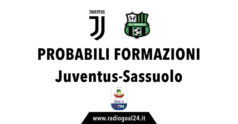 Juventus-Sassuolo probabili formazioni