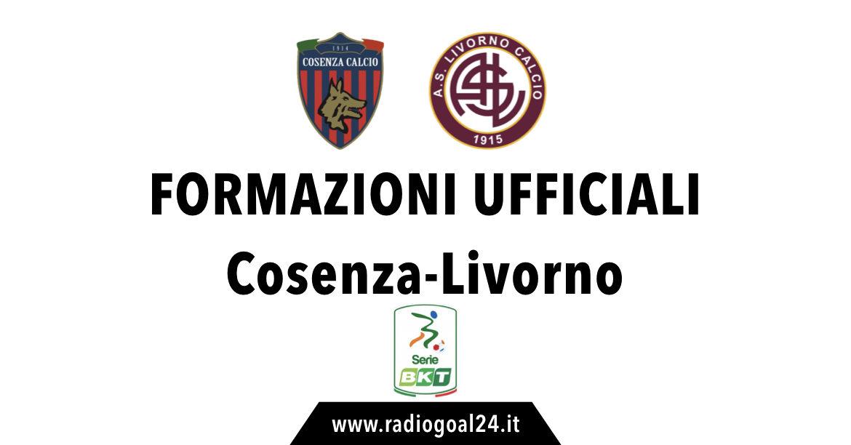 Cosenza-Livorno formazioni ufficiali