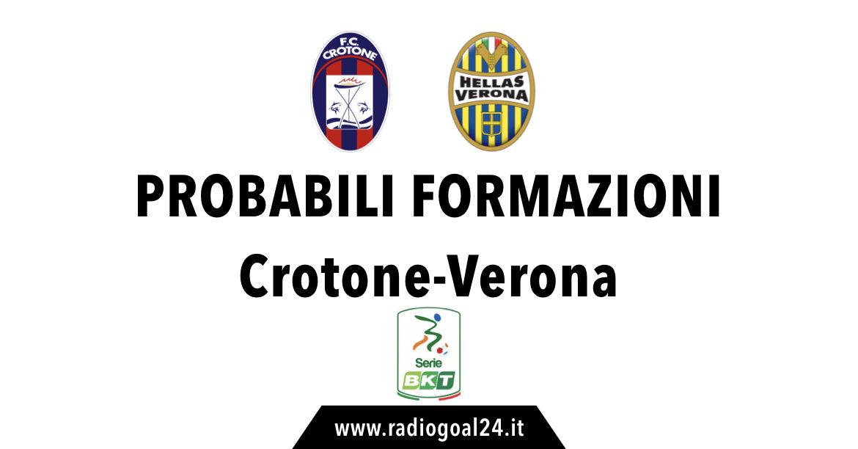 Crotone-Verona probabili formazioni