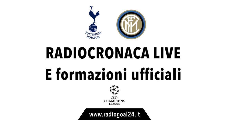 Inter-Tottenham formazioni ufficiali