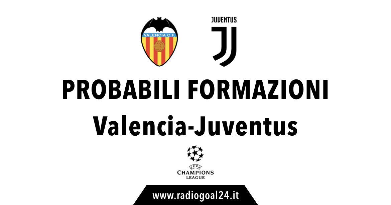 Valencia-Juventus probabili formazioni