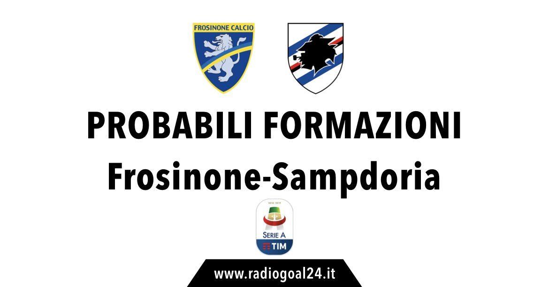 Frosinone-Sampdoria probabili formazioni