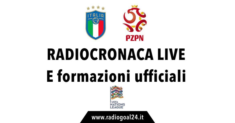 Italia-Polonia formazioni ufficiali
