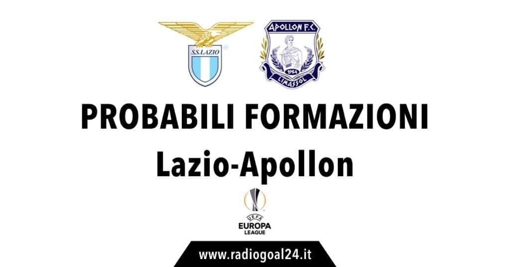 Lazio-Apollon probabili formazioni