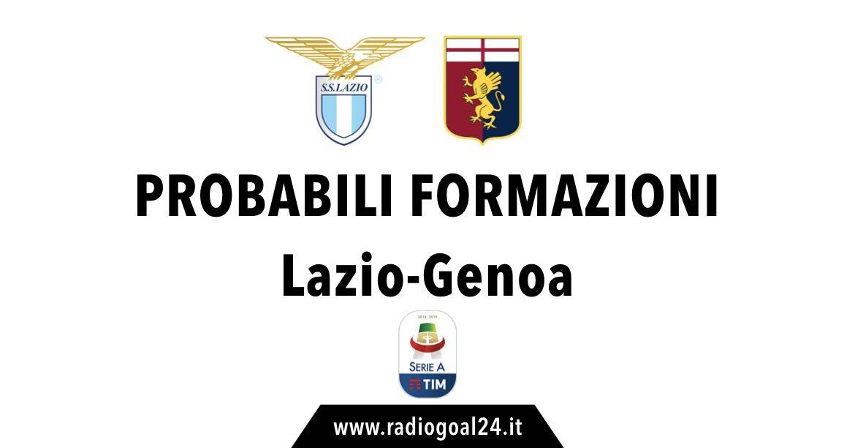 Lazio-Genoa probabili formazioni
