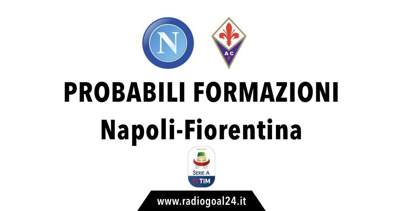 Napoli-Fiorentina probabili formazioni