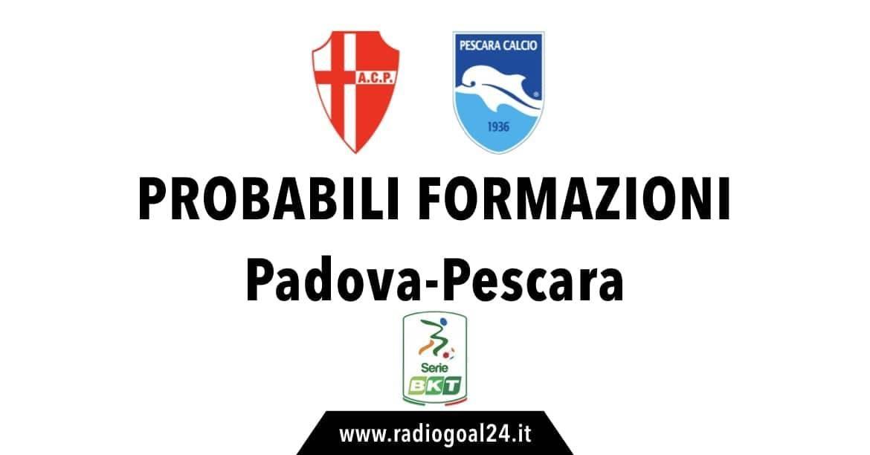 Padova-Pescara probabili formazioni