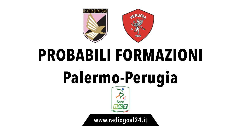 Palermo-Perugia probabili formazioni