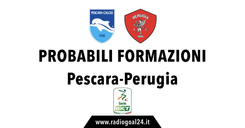 Pescara-Perugia probabili formazioni