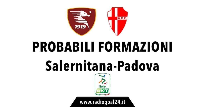 Salernitana-Padova probabili formazioni