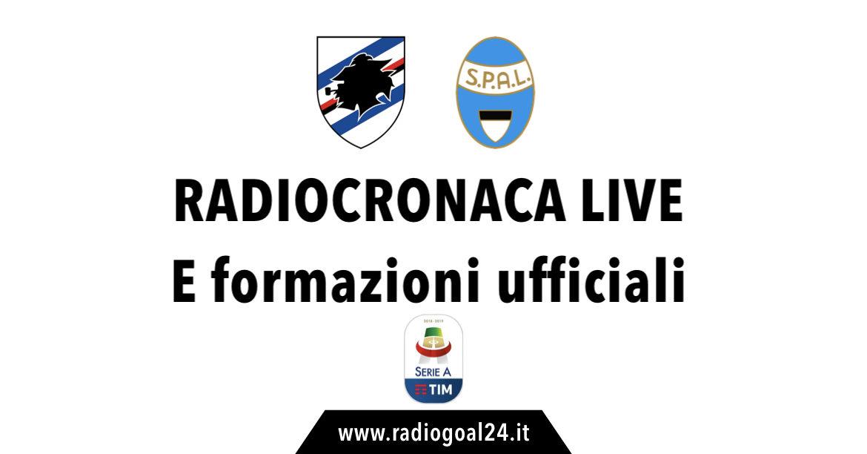 Sampdoria-SPAL formazioni ufficiali