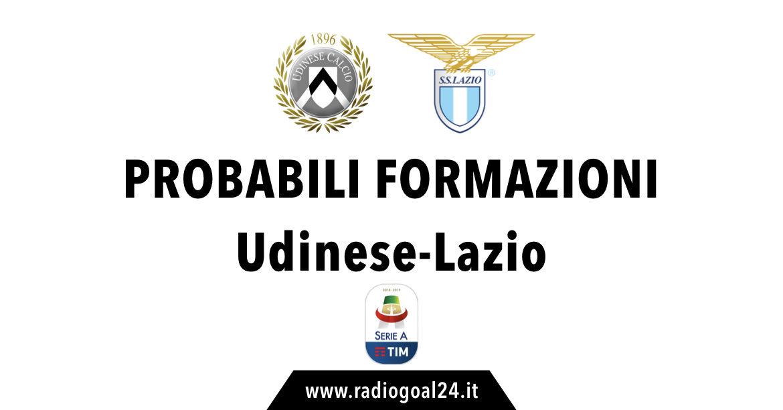 Udinese-Lazio probabili formazioni