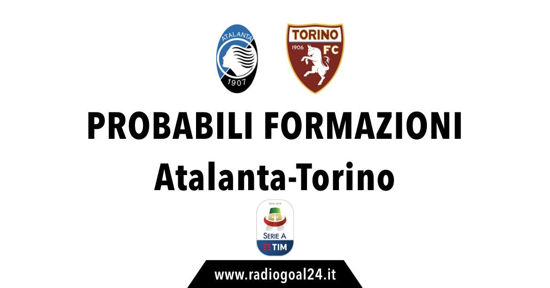 Atalanta-Torino probabili formazioni