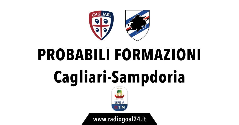 Cagliari-Sampdoria probabili formazioni