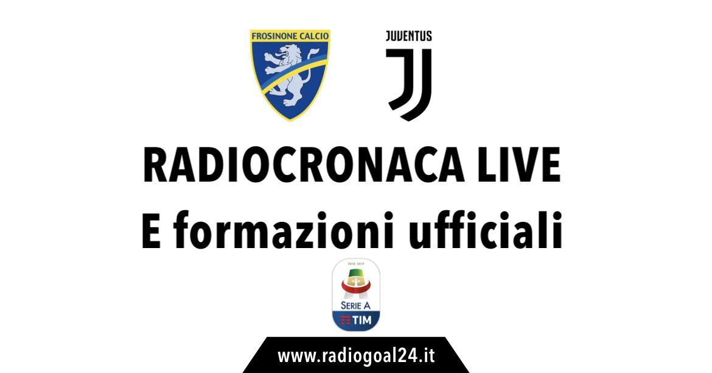 Frosinone-Juventus formazioni ufficiali
