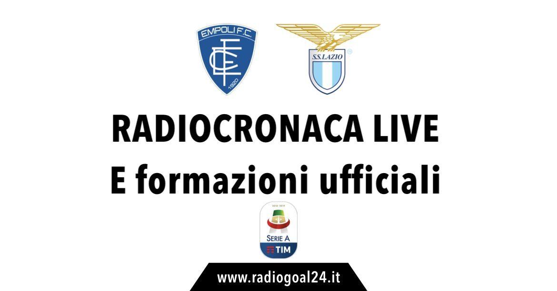 Empoli-Lazio formazioni ufficiali