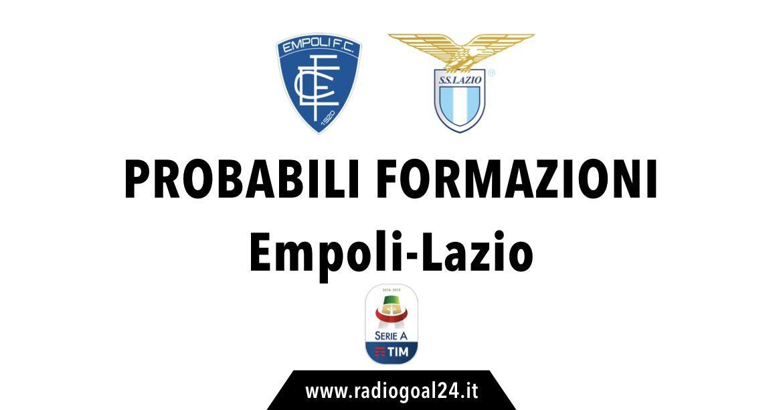 Empoli-Lazio probabili formazioni