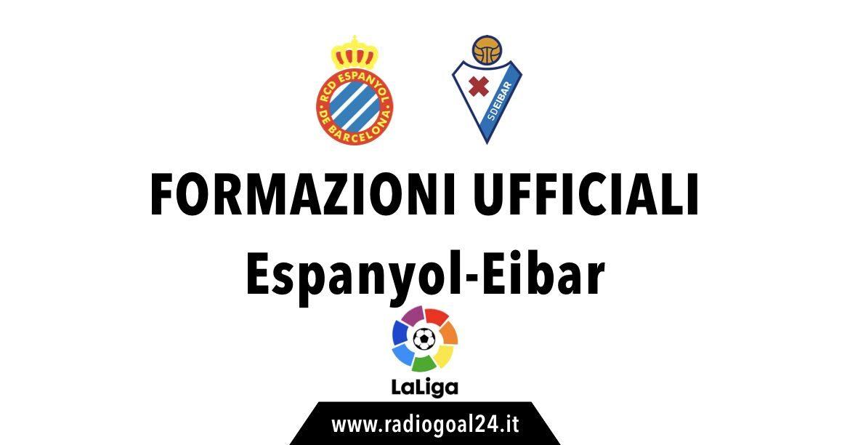 Espanyol-Eibar formaazioni ufficiali