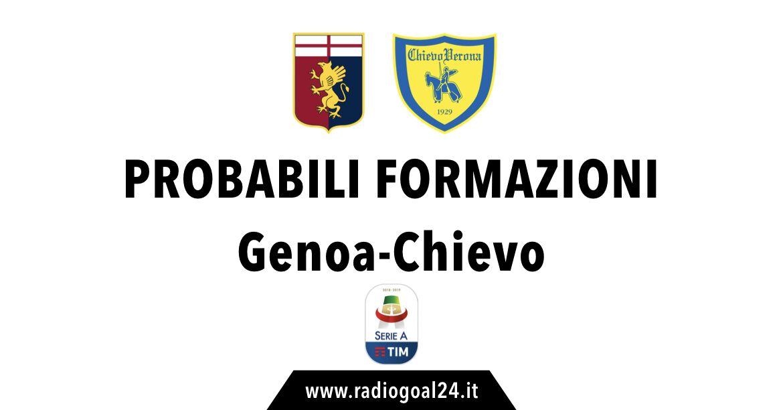 Genoa-Chievo probabili formazioni