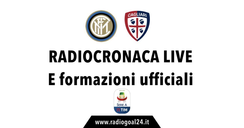 Inter-Cagliari formazioni ufficiali
