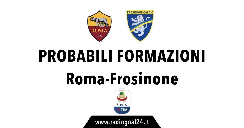 Roma-Frosinone probabili formazioni