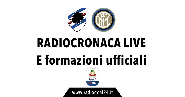 Sampdoria-Inter formazioni ufficiali