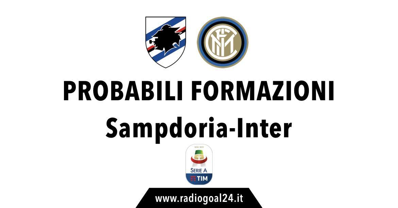Sampdoria-Inter probabili formazioni