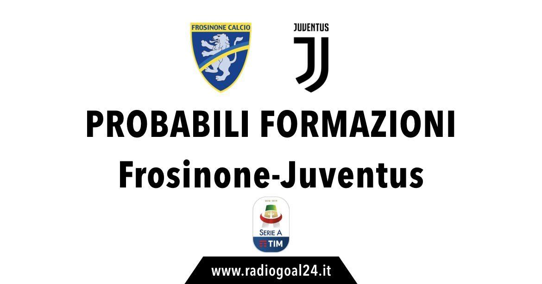 Frosinone-Juventus probabili formazioni