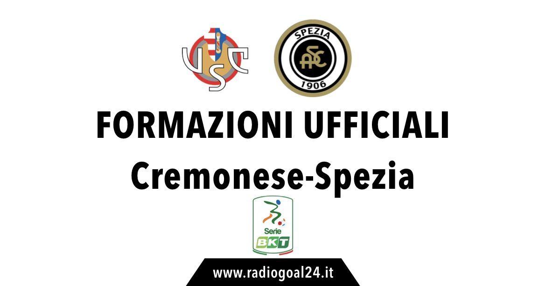 Cremonese-Spezia formazioni ufficiali