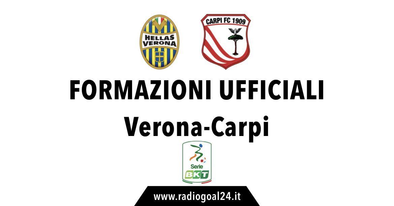 Hellas Verona-Carpi formazioni ufficiali