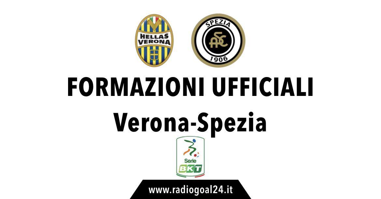 Hellas Verona-Spezia formazioni ufficiali