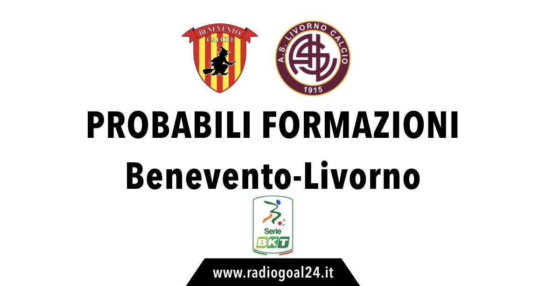 Benevento-Livorno probabili formazioni