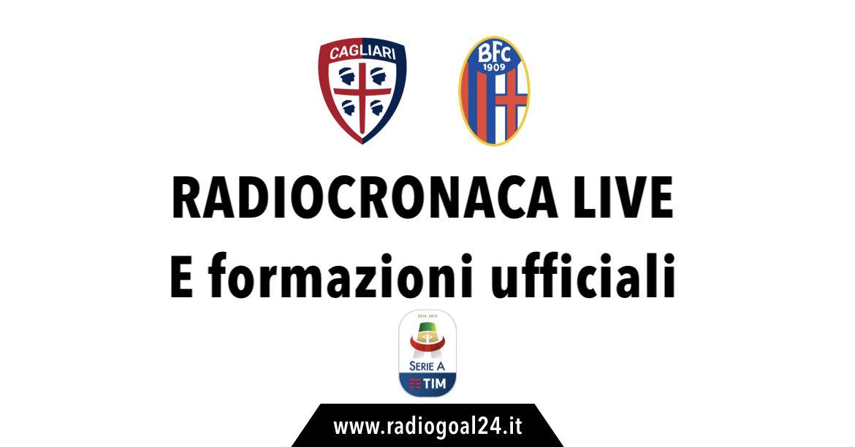 Cagliari-Bologna formazioni ufficiali