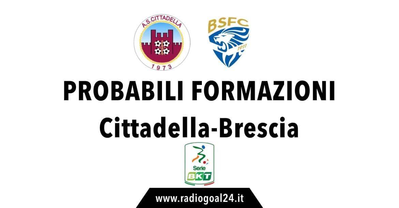 Cittadella-Brescia probabili formazioni