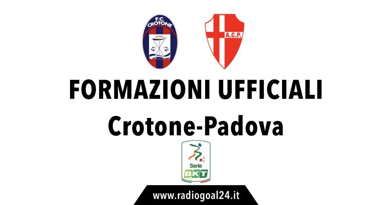Crotone-Padova formazioni ufficiali