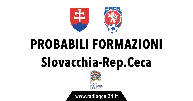 Slovacchia-Repubblica Ceca probabili formazioni