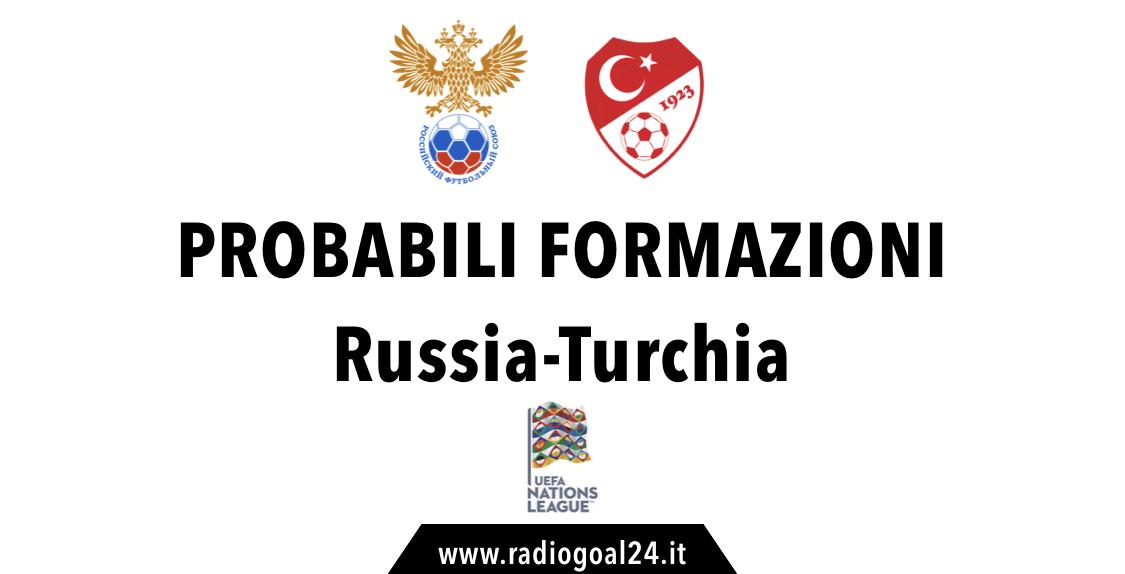 Russia-Turchia probabili formazioni