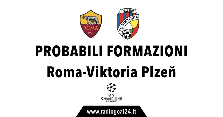 Roma-Viktoria Plzen probabili formazioni