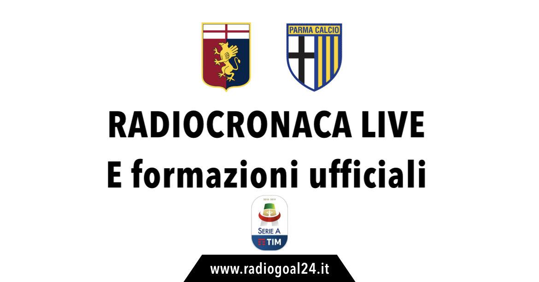 Genoa-Parma formazioni ufficiali