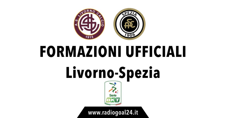 Livorno-Spezia formazioni ufficiali