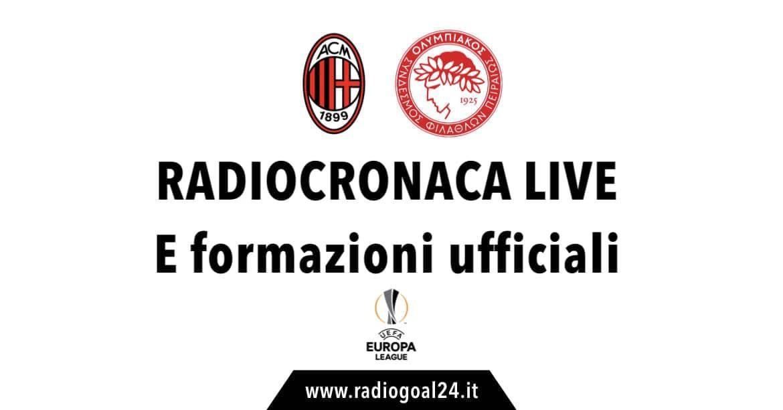 Milan-Olympiakos formazioni ufficiali