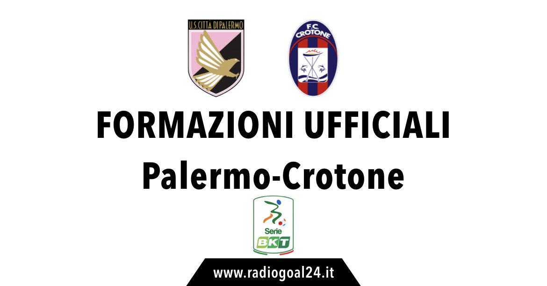 Palermo-Crotoneformazioni ufficiali
