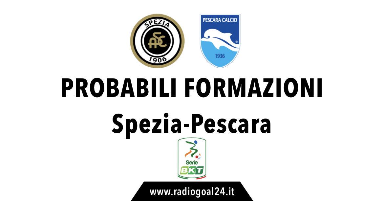 Spezia-Pescara probabili formazioni